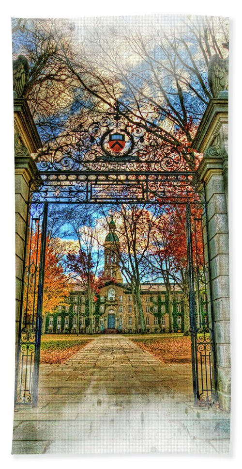 Recent Bath Sheet featuring the photograph Gates To Knowledge Princeton University by Geraldine Scull