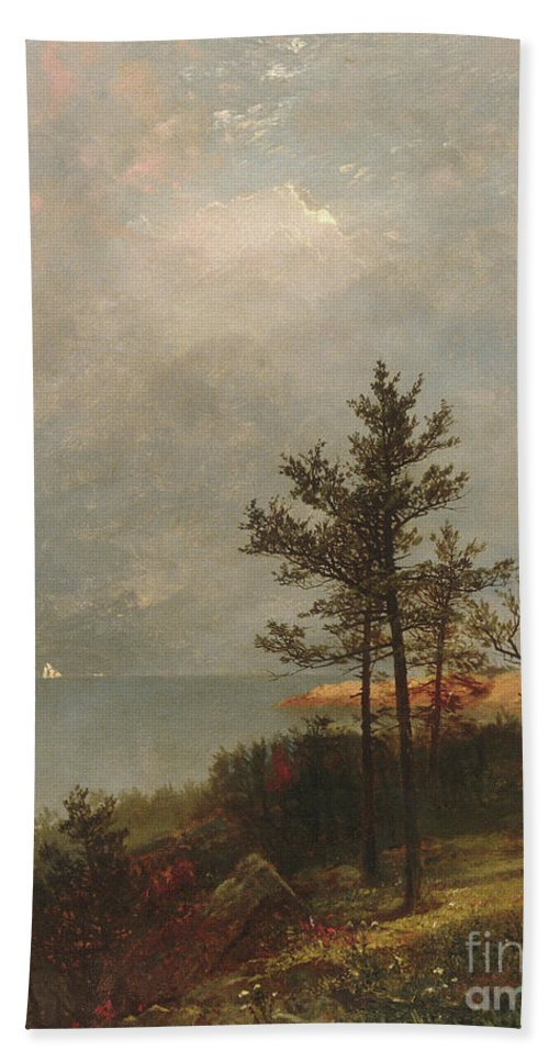 Gathering Storm On Long Island Sound, 1872 Hand Towel