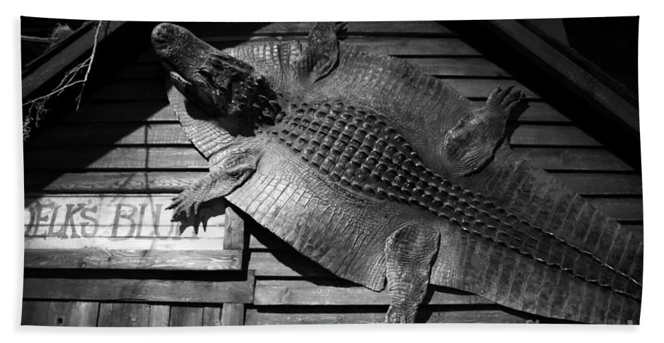 Alligator Hand Towel featuring the photograph Gator Hide by David Lee Thompson