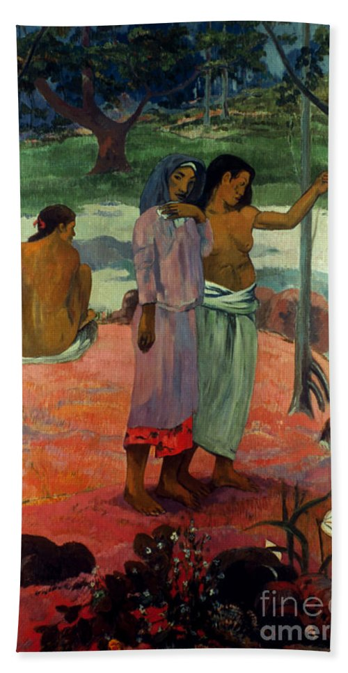 1902 Hand Towel featuring the photograph Gauguin: Call, 1902 by Granger