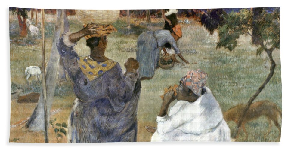 1887 Hand Towel featuring the photograph Gauguin: Martinique, 1887 by Granger