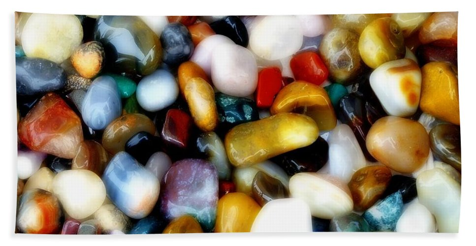 Agates Bath Sheet featuring the photograph Gemglow by RC DeWinter