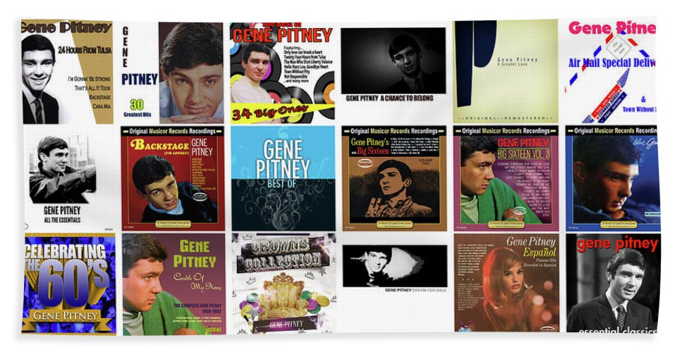 Gene Pitney Hand Towel featuring the mixed media Gene Pitney 1 by Smart Aviation