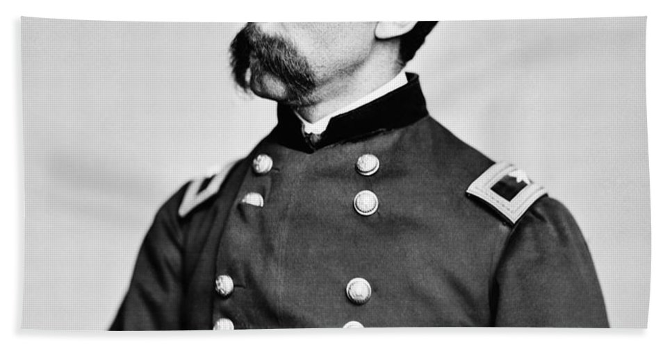Joshua Lawrence Chamberlain Bath Towel featuring the photograph General Joshua Chamberlain by War Is Hell Store