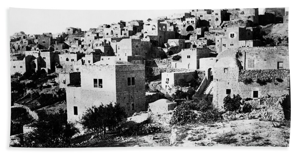 Bethlehem Hand Towel featuring the photograph General View Of Bethlehem 1800s by Munir Alawi