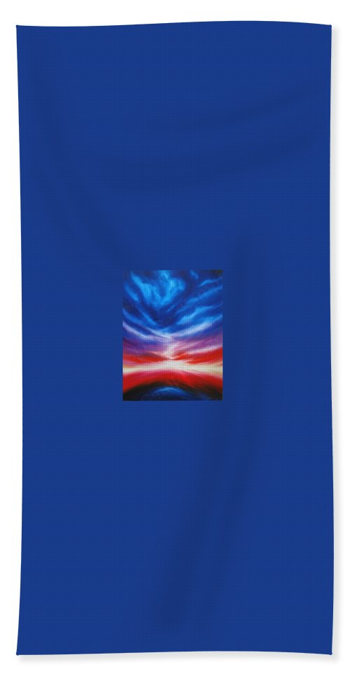 Tempest Hand Towel featuring the painting Genesis IIi by James Christopher Hill