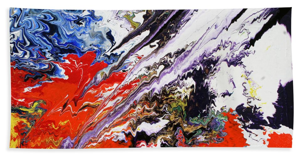 Fusionart Bath Sheet featuring the painting Genesis by Ralph White