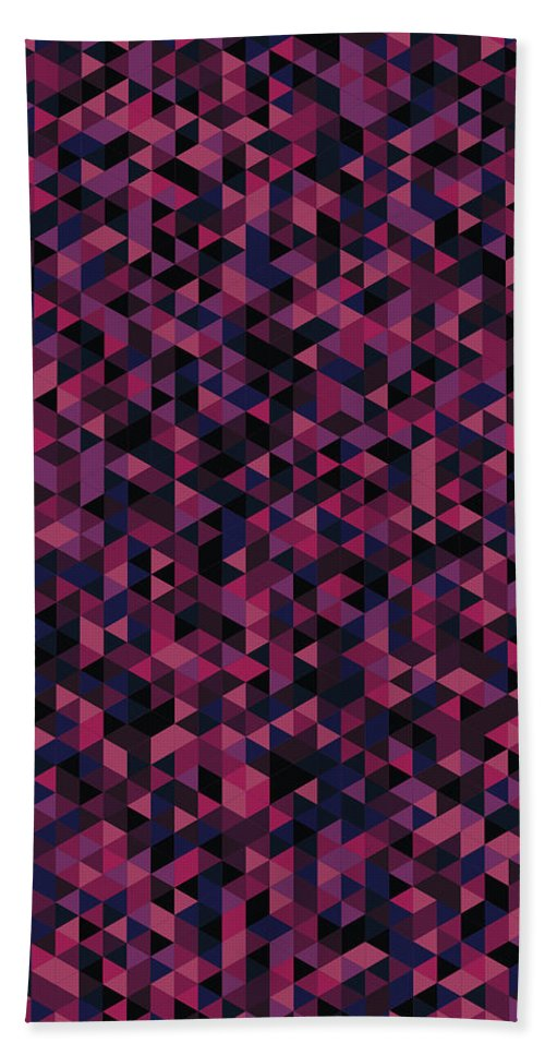 Abstract Bath Sheet featuring the digital art Geometric Print by Mike Taylor