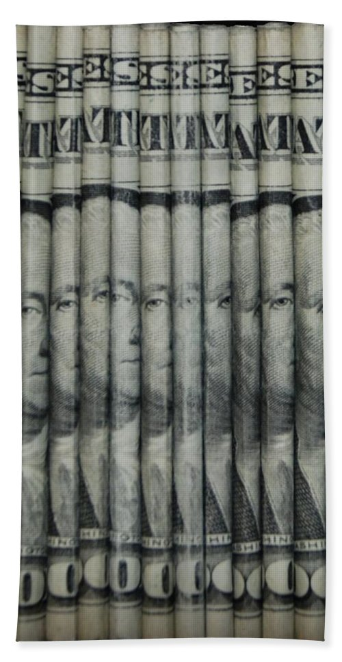 Money Hand Towel featuring the photograph Georges by Rob Hans