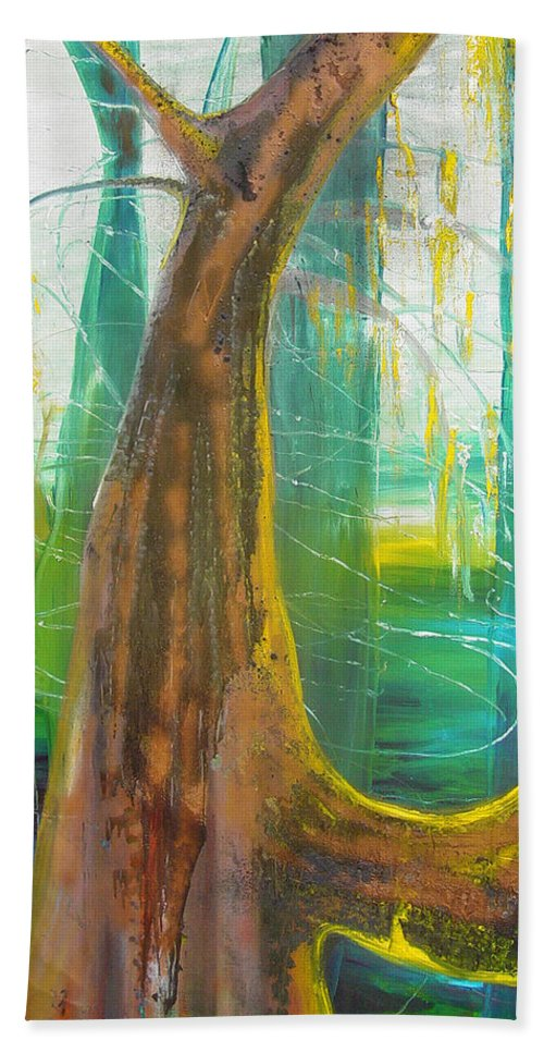 Landscape Hand Towel featuring the painting Georgia Morning by Peggy Blood