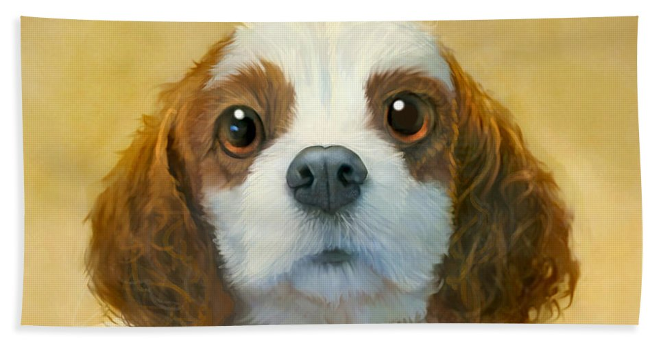 Dog Bath Sheet featuring the painting More Than Words by Sean ODaniels