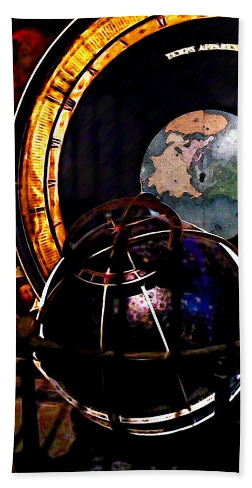 Astrology Hand Towel featuring the photograph German World Atlas by Joan Minchak