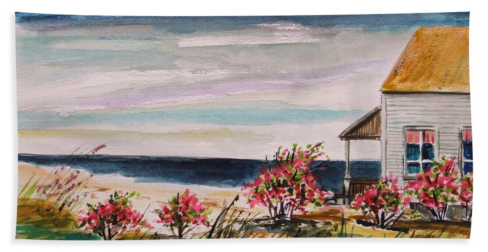Beach Hand Towel featuring the painting Getaway by John Williams