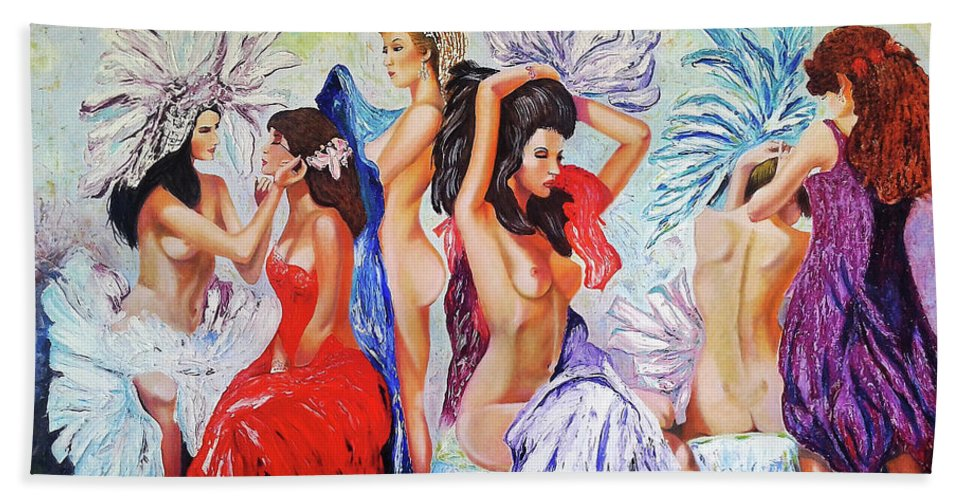 Women Bath Towel featuring the painting Getting Ready by Jose Manuel Abraham