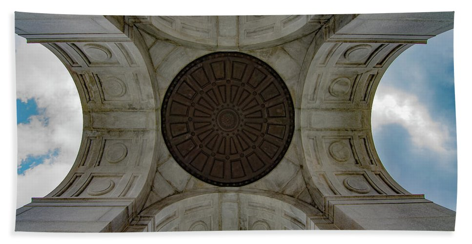 Landscape Bath Sheet featuring the photograph Gettysburg Ceiling Of Building by Krystal Billett