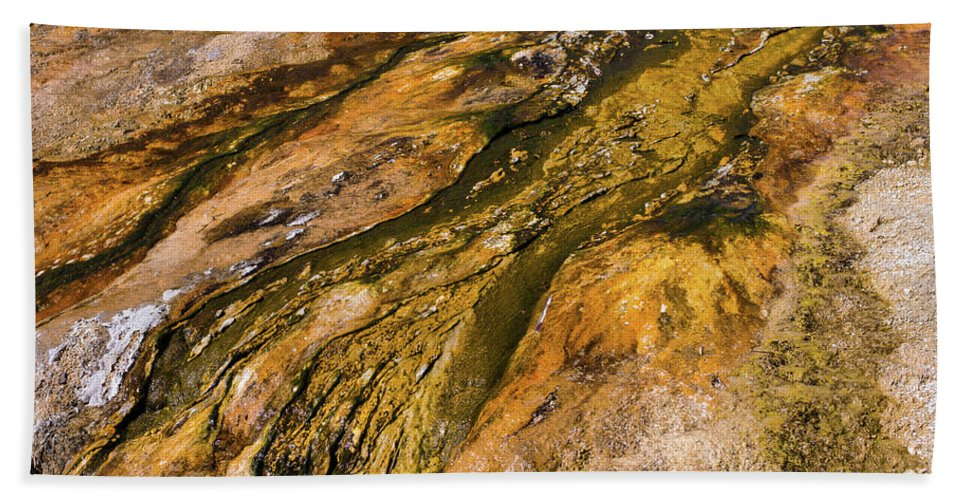 Wyoming Hand Towel featuring the photograph Geyser Basin Springs 2 by Tracy Knauer