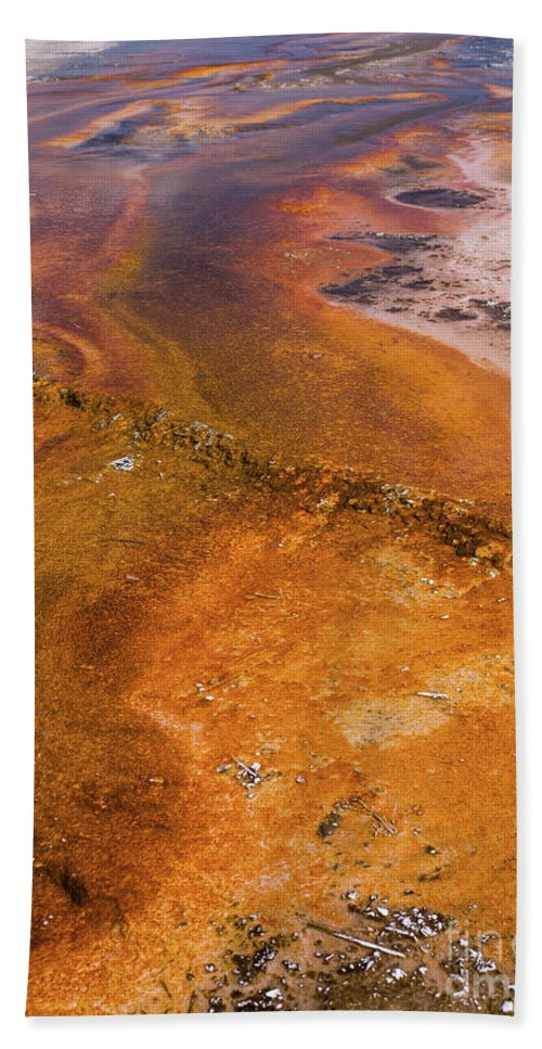 Wyoming Hand Towel featuring the photograph Geyser Basin Springs 6 by Tracy Knauer