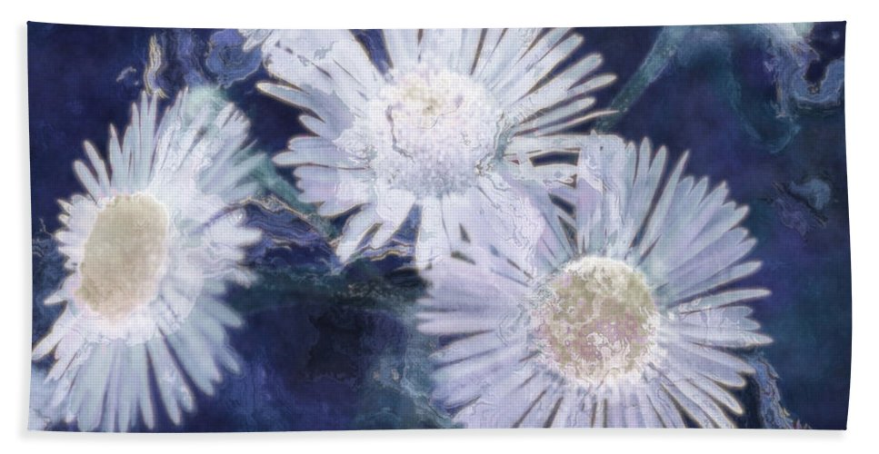 Asters Bath Sheet featuring the painting Ghost Flowers by RC DeWinter