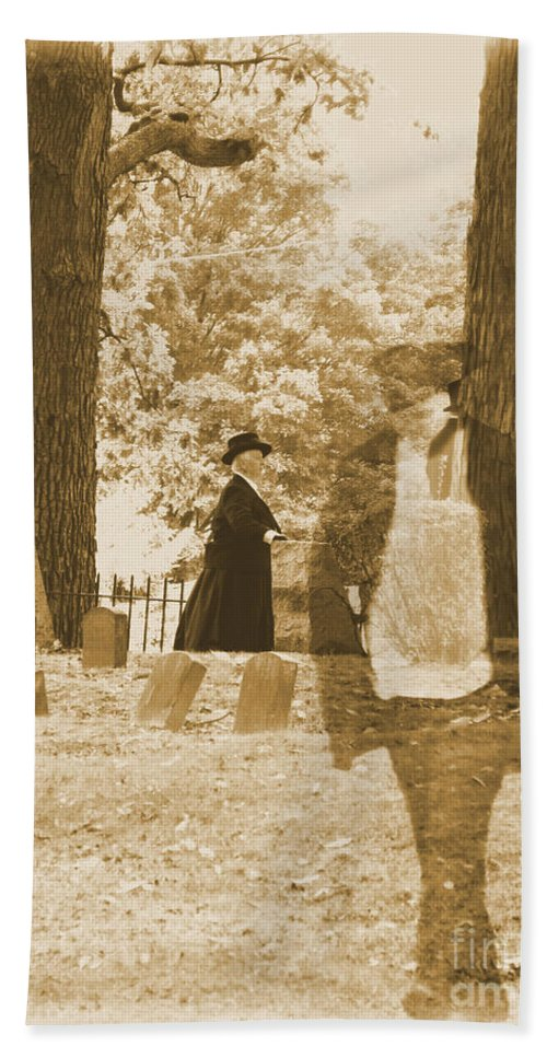 Art Bath Sheet featuring the photograph Ghost In The Graveyard by September Stone