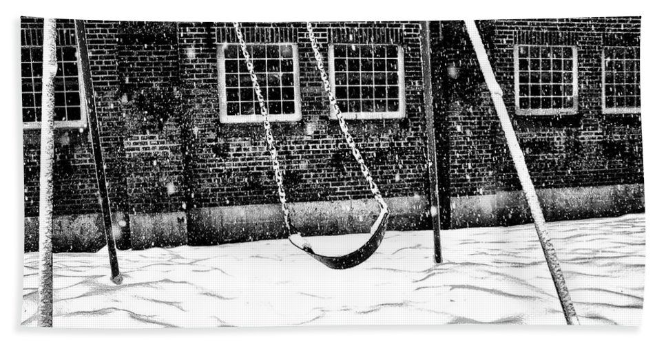 Swing Bath Sheet featuring the photograph Ghost On A Swing by Bill Cannon