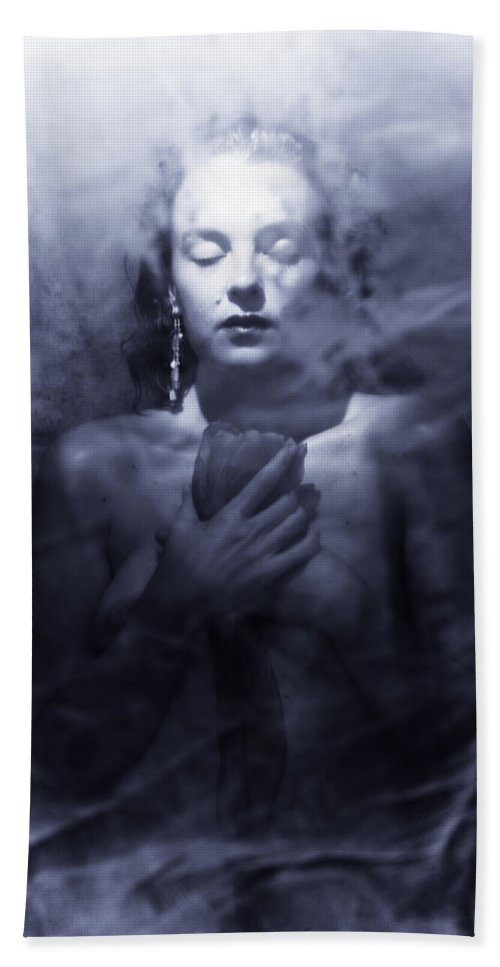 Woman Bath Sheet featuring the photograph Ghost Woman by Scott Sawyer