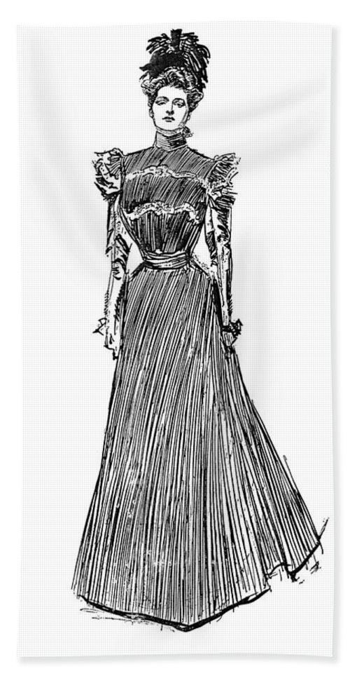 1899 Hand Towel featuring the photograph Gibson: A Gibson Girl by Granger