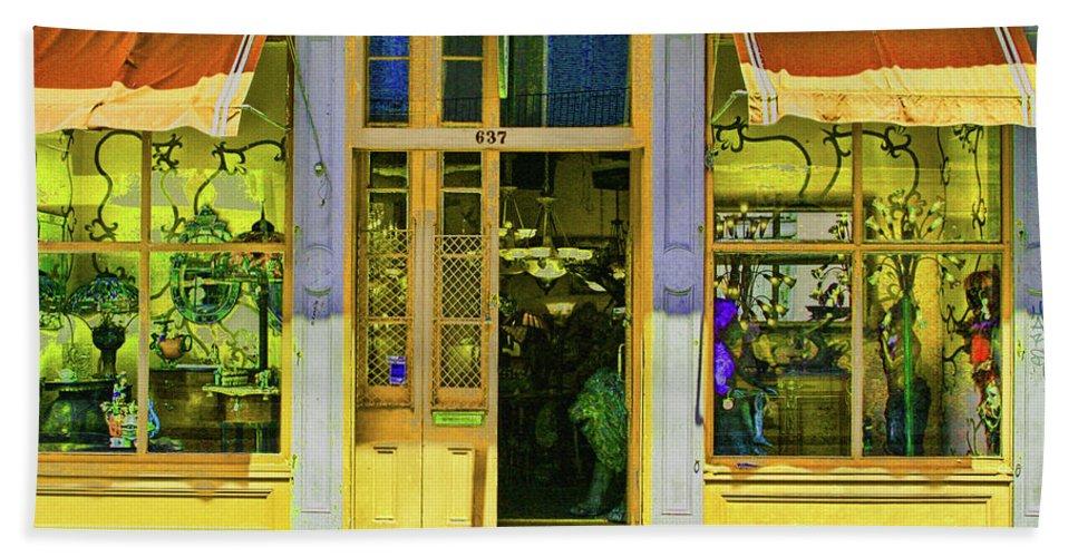 Gift Shop Bath Sheet featuring the photograph Gift Shop Windows by Artie Rawls