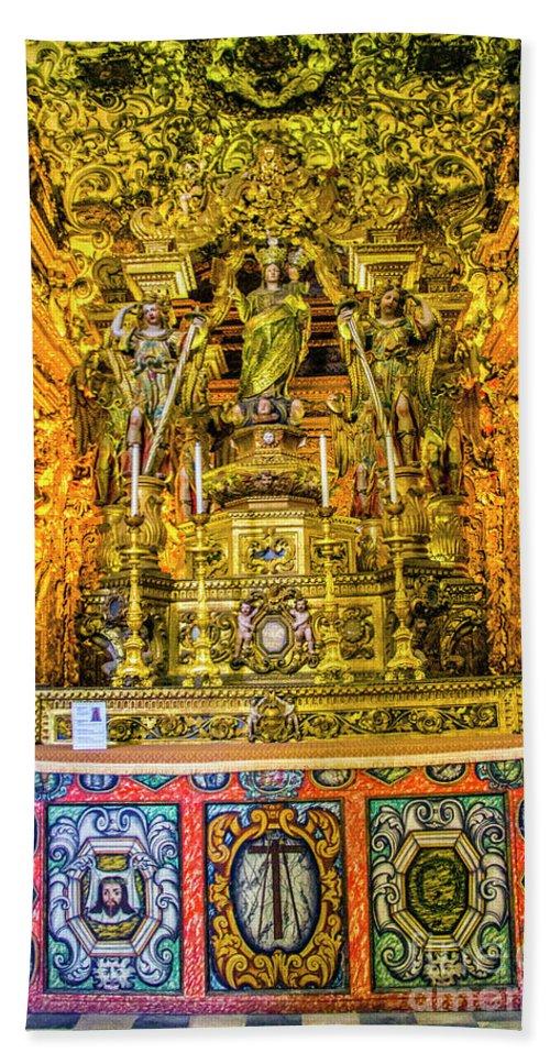 Chapel Bath Sheet featuring the photograph Gilded Chapel by Roberta Bragan