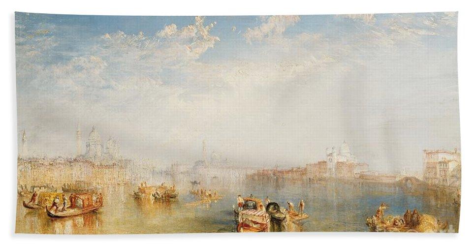 Boat Hand Towel featuring the painting Giudecca La Donna Della Salute And San Giorgio by Joseph Mallord William Turner