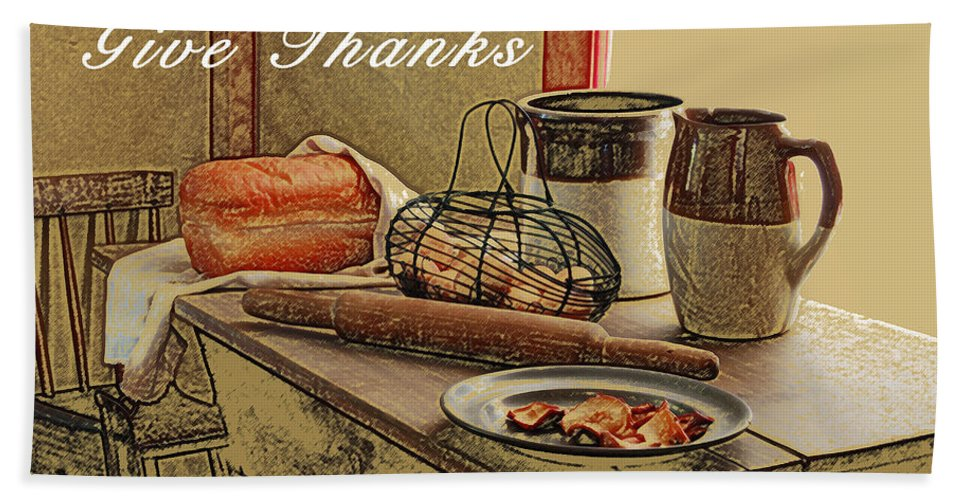 Thanksgiving Hand Towel featuring the photograph Give Thanks by Michael Peychich