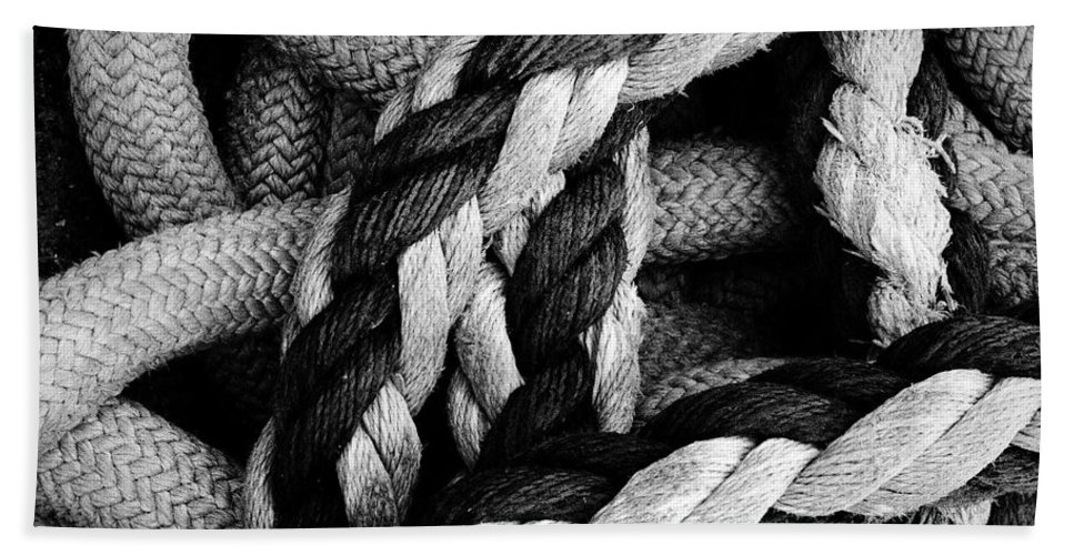 Give Them Some Rope Hand Towel featuring the photograph Give Them Some Rope 2 by Skip Hunt