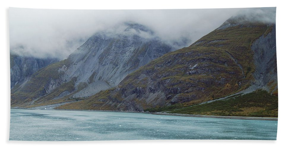 Glacier Hand Towel featuring the photograph Glacier Bay Tarr Inlet by Michael Peychich