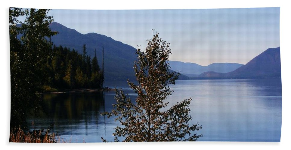 Lakes Bath Sheet featuring the photograph Glacier Lake by Marilyn Smith