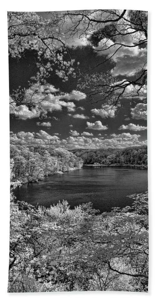 Infrared Hand Towel featuring the photograph Glacier Lake by Michael McGowan