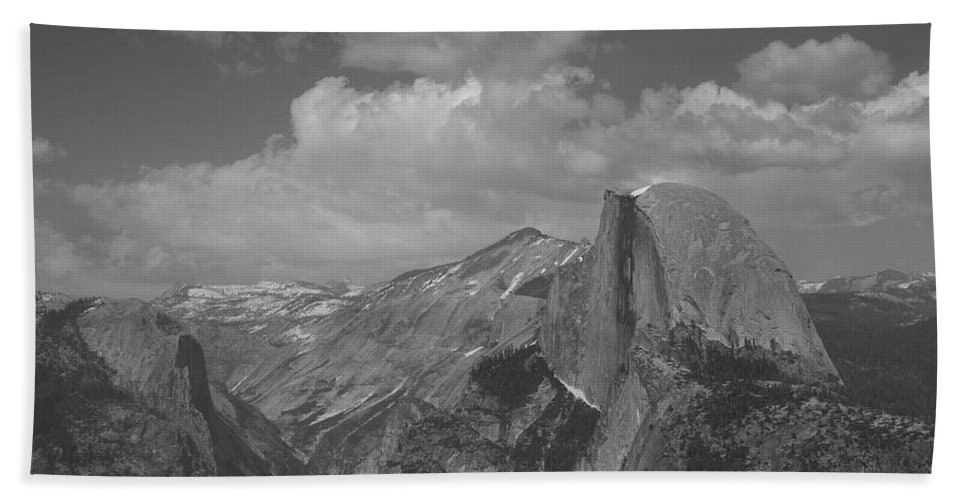 Half Dome Hand Towel featuring the photograph Glacier Point by Travis Day
