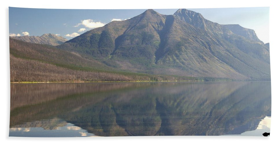 Glacier National Park Bath Towel featuring the photograph Glacier Reflection1 by Marty Koch