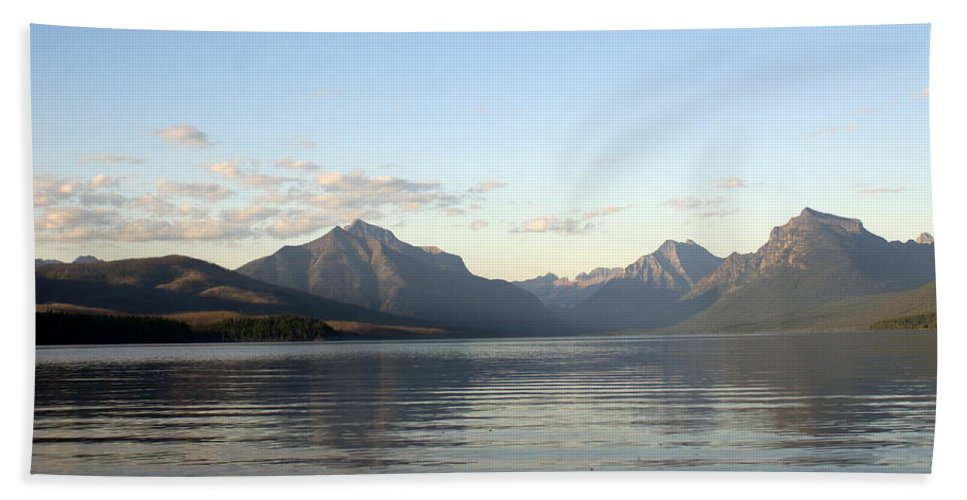 Hand Towel featuring the photograph Glacier Reflections 3 by Marty Koch