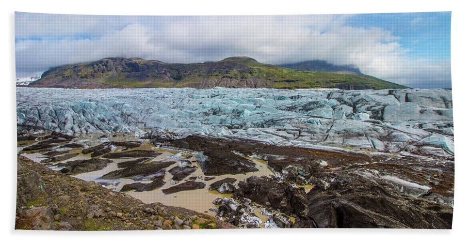 Iceland Hand Towel featuring the photograph Glacier, Vatnajokull National Park, Iceland by Venetia Featherstone-Witty