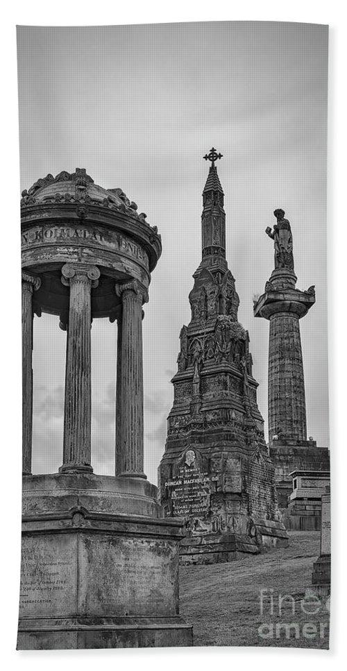 Glasgow Bath Sheet featuring the photograph Glasgow Necropolis Graveyard Memorials by Antony McAulay