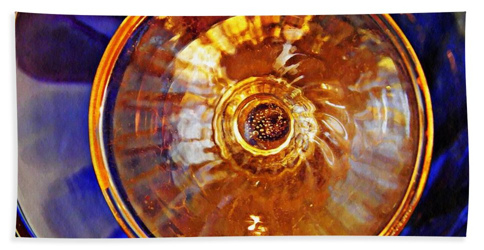 Glass Bath Sheet featuring the photograph Glass Abstract 577 by Sarah Loft