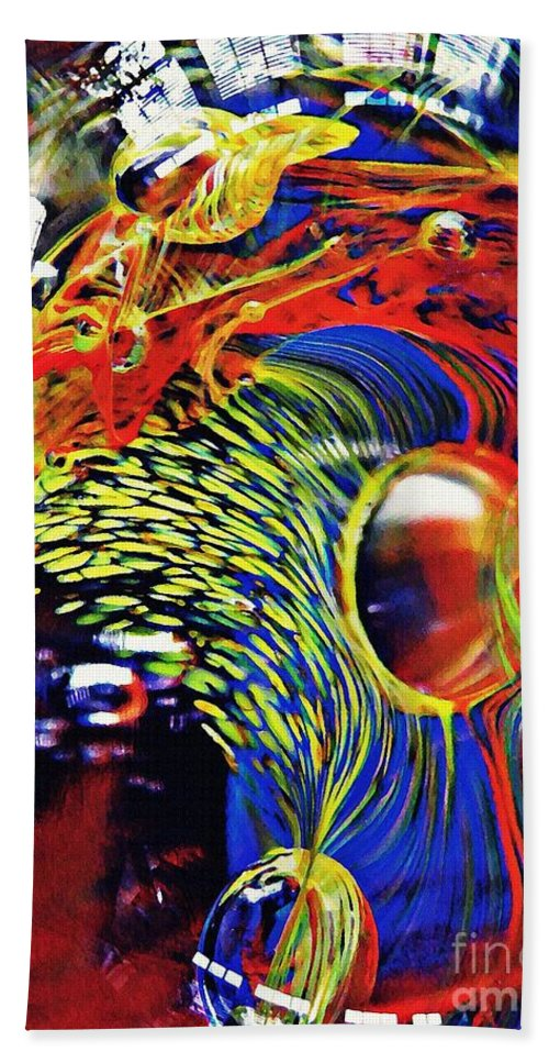 Glass Bath Sheet featuring the photograph Glass Abstract 630 by Sarah Loft