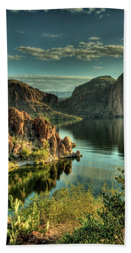 Arizona Bath Towel featuring the photograph Glass Lake by Saija Lehtonen