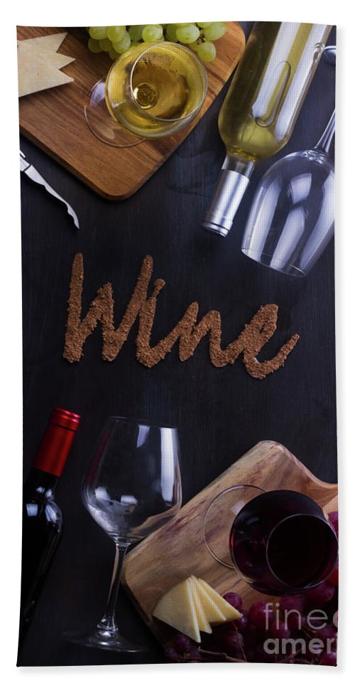 Wine Hand Towel featuring the photograph Winery by Anastasy Yarmolovich