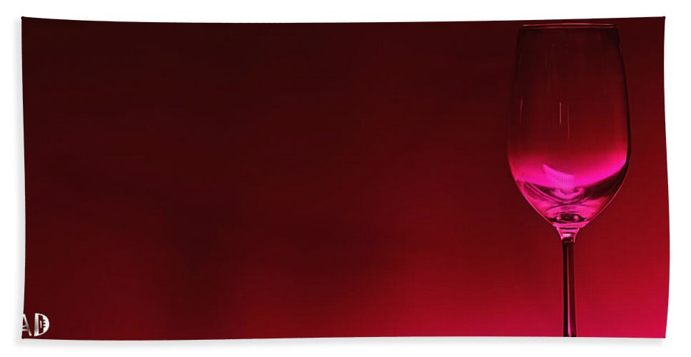 Wine Bath Towel featuring the digital art Glass Of Wine by Abhijeet Dhidhatre