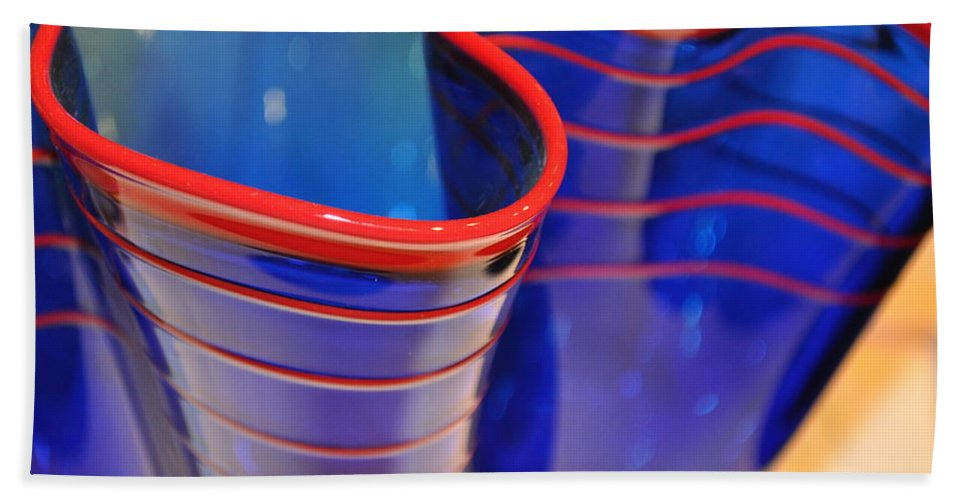 Glass Bath Sheet featuring the photograph Glassworks 1 by Marty Koch