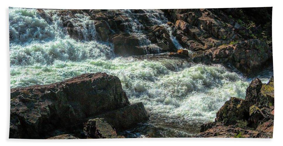 California Hand Towel featuring the photograph Glen Alpine Falls 9 by Joe Lach