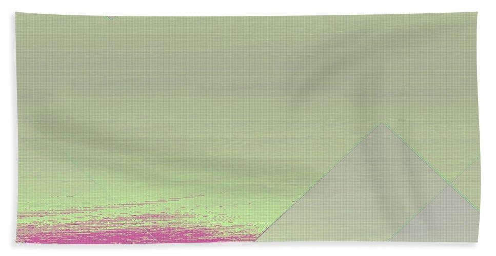 Glitch Bath Sheet featuring the digital art Glitch Mix by Derek Barnes