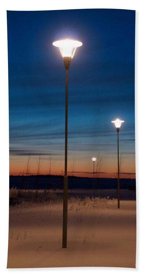 Talvi Hand Towel featuring the photograph Global Warming by Jouko Lehto