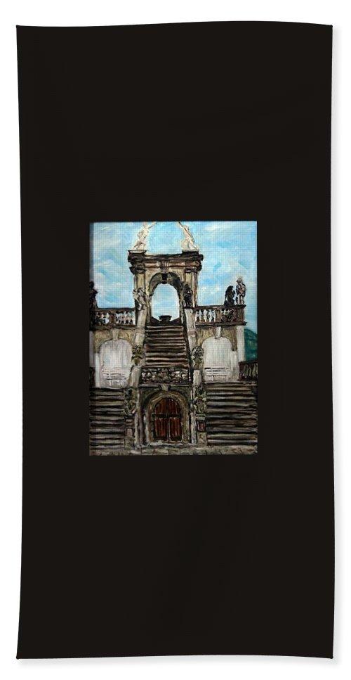 Landscape Bath Sheet featuring the painting Gloriet by Pablo de Choros