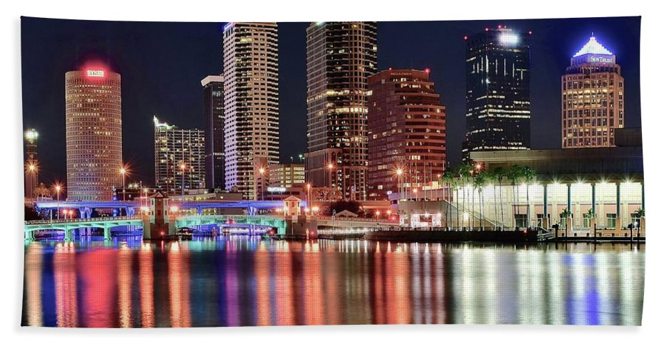 Tampa Bath Sheet featuring the photograph Glorious Tampa Bay Florida by Frozen in Time Fine Art Photography